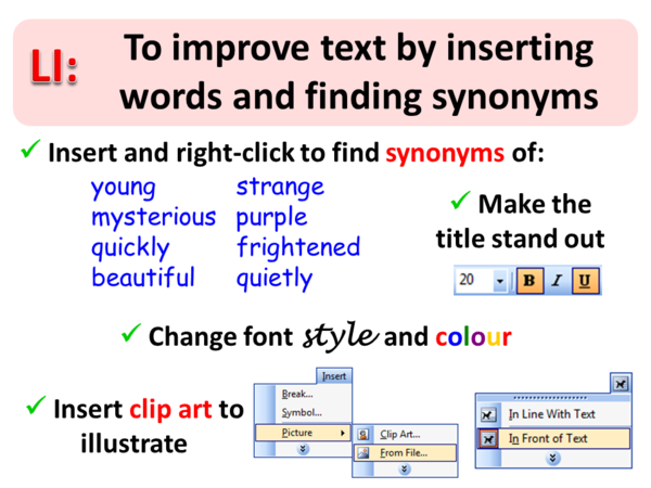 Word Processing Tricks Inserting And Changing Text Simon