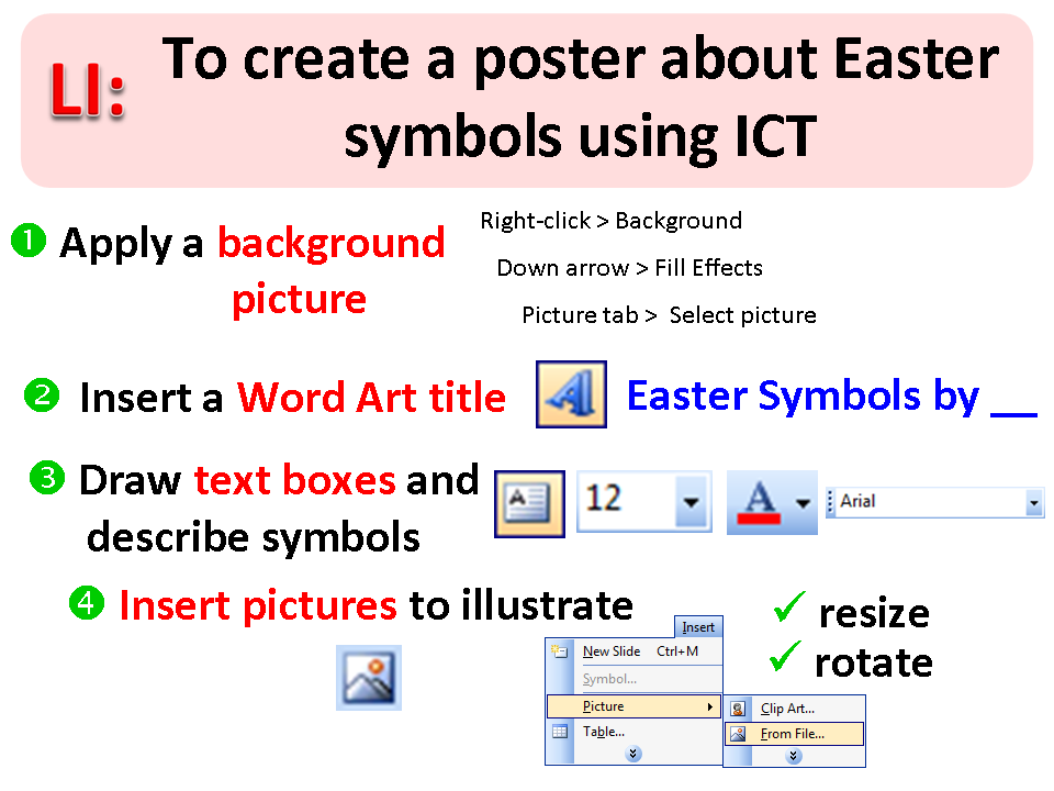 Creating Easter Posters In Powerpoint With Year 4 Simon Haughtons