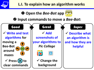 LI for Algorithms & Bee-Bot